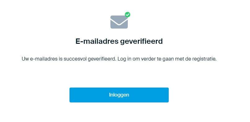 Email adres geverifieerd