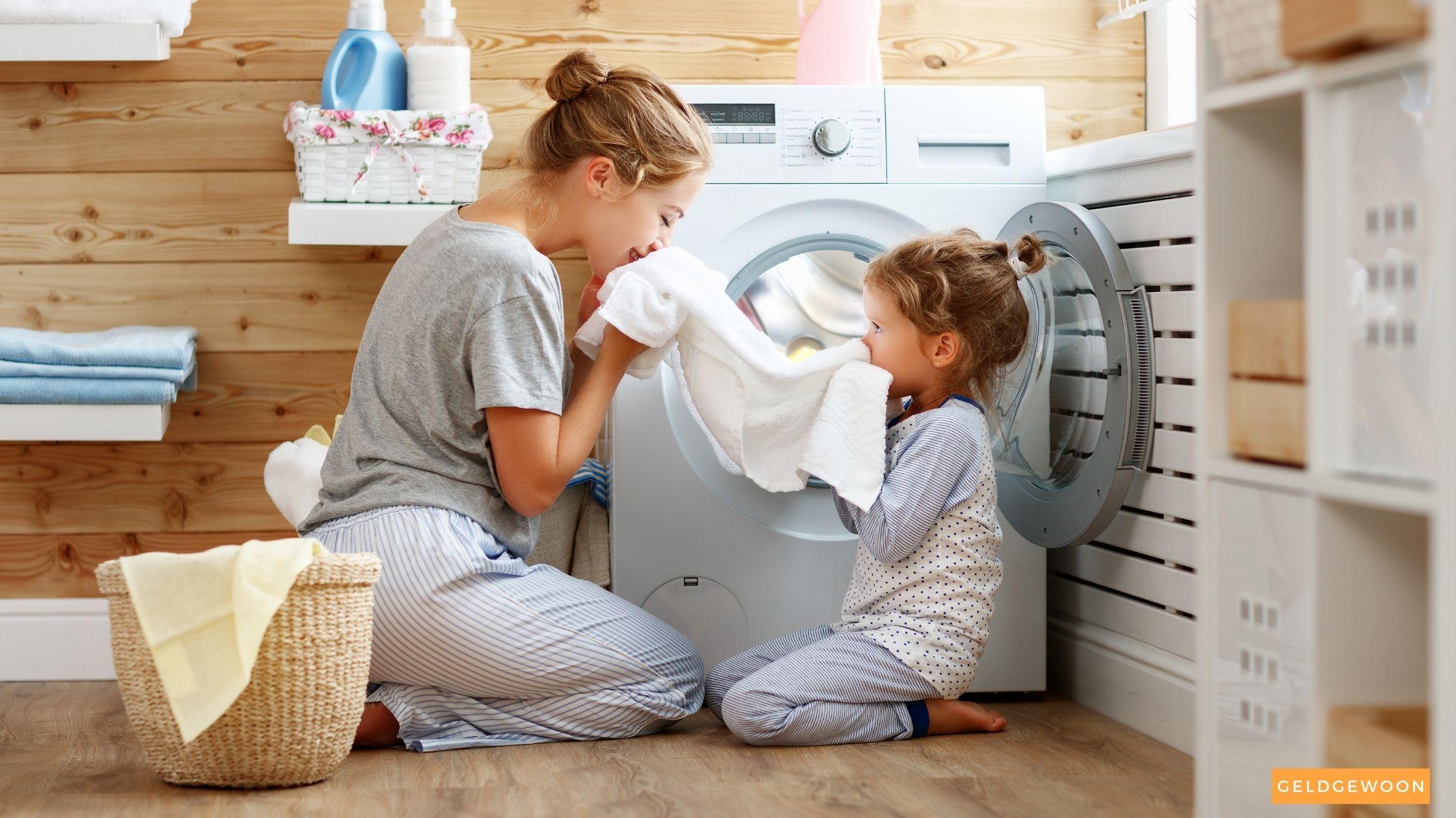 Besparen op wassen wasmachine