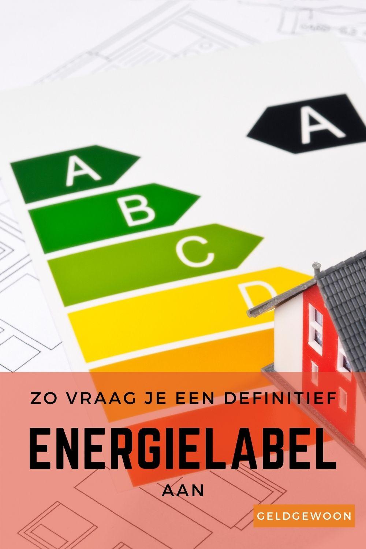 Het energielabel woningen